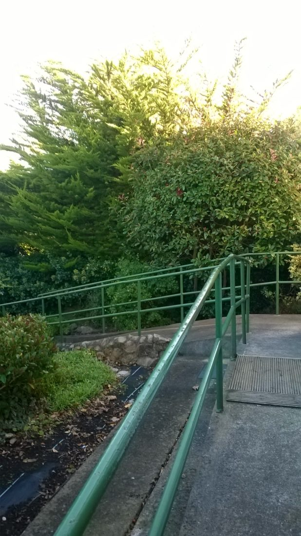 ..the existing ramp is far too steep even to walk down....